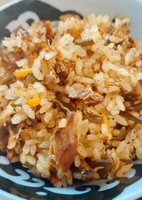 出汁用昆布、鰹節リメイク☆鯖炊き込みご飯