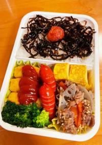 れんこんと牛肉のキンピラ弁当(覚え書き)
