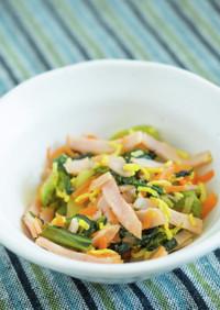 青菜のピリ辛酢の物【入院食③昼/冷副菜】