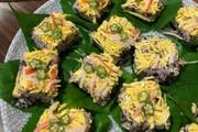 ハンダマの彩り寿司(押し寿司)の写真