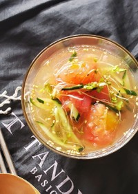 どろどろ美味しい~冷凍トマト~冷スープ