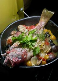 白身魚の白ワイン煮(仏版アクアパッツア)