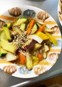 根菜あんかけうどん味温野菜サラダ