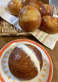 マリトッツォ風クリームサンドオレンジパン