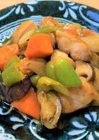 ごろごろ野菜の黒酢炒め