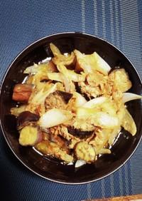 なすと玉ねぎのツナ缶炒め(マヨしょうゆ)