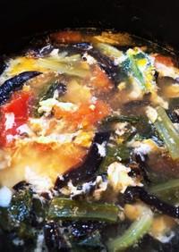 酸っぱいのがイイ!キクラゲの酸辣湯スープ