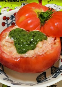 規格外トマトのカプレーゼ風サラダ