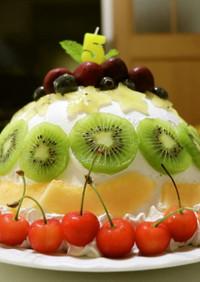 真夏のドームケーキ