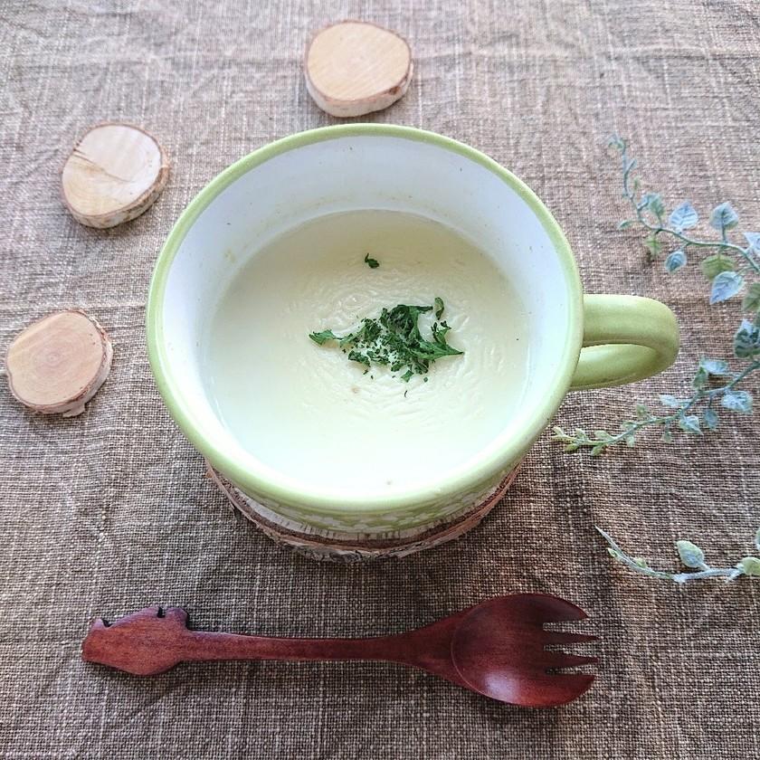 レンジで2分♪オートミール豆乳スープ