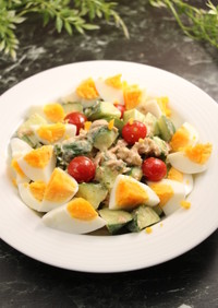 簡単!きゅうりとツナのバジルサラダ