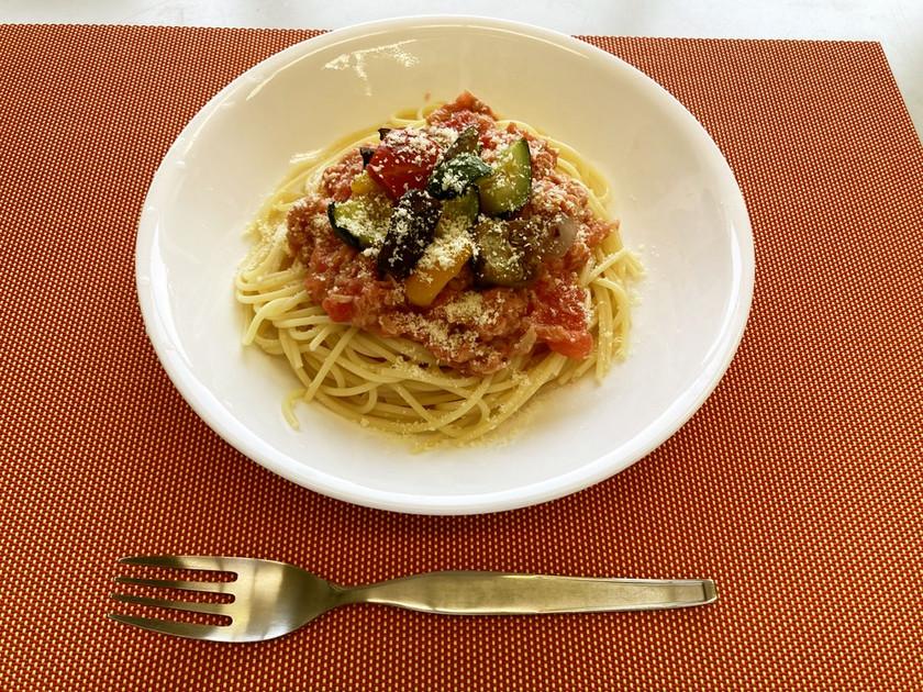 包丁いらず!トマトとツナの冷製パスタ