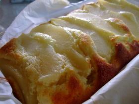 しっとり・・・洋ナシのパウンドケーキ