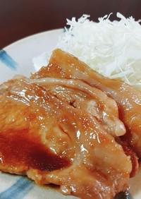 甘酸っぱい豚の生姜焼き