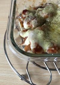 夏バテ予防!鶏茄子のトマト煮風グラタン