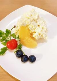 超簡単!フルーツと2種のチーズデザート