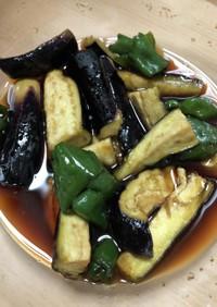 【レンジ・麺つゆ】なすとピーマンの煮浸し