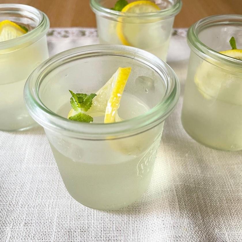 レモンシロップでレモンゼリー