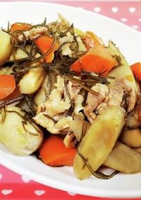 きざみ昆布と根菜の炒め煮