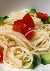 トマト きゅうり カッペリーニ風 簡単