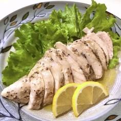 簡単・オリーブオイルの塩麹蒸し鶏