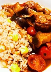 夏野菜たっぷり夏野菜と肉団子のカレー