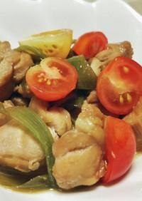 鶏肉と白ネギとトマトのサッパリ煮