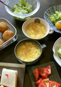 コーンたっぷり中華スープ