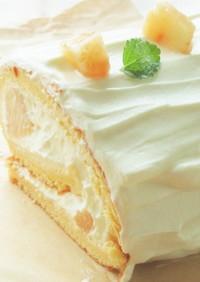 〖 白桃のロールケーキ 〗