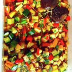夏野菜のさっぱりピリ辛漬