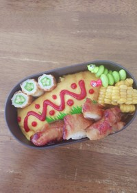 JK☆オムライスと照り焼きチキン弁当♪