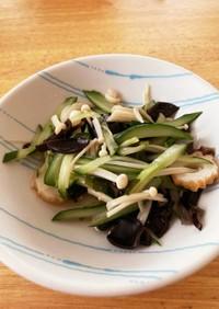 えのきとキクラゲの中華風サラダ