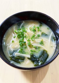 えのき茸の味噌汁