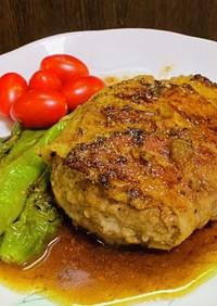 豚バラ巻きハンバーグ・麺つゆソース
