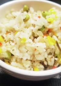 枝豆&とうもろこしのカラフルご飯