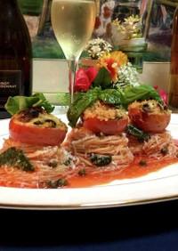 トマトとバジルとチーズのイタリアン素麺♡