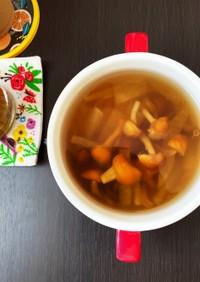 白だし和風醤油の冷たいスープ