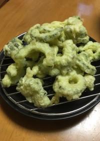 我が家の夏の定番レシピ☆ゴーヤの天ぷら