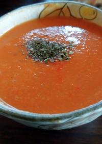 トマト缶で簡単!トマトと豆乳の冷製スープ