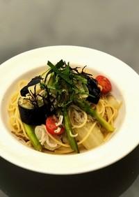 釜揚げしらすと季節野菜のペペロンチーノ