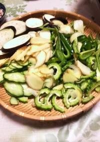 夏野菜のサラダしゃぶしゃぶ