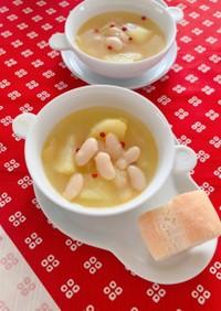 白インゲン豆とじゃが芋のあっさりスープ