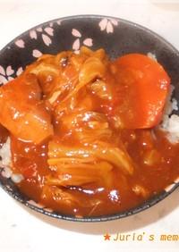 キャベツと鯖缶・トマト缶で超簡単カレー