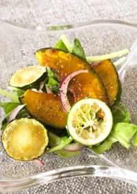 夏野菜マリネ風サラダ 塩麹ドレ