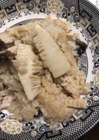 たけのこ&椎茸炊き込みご飯