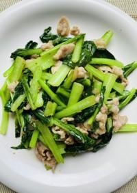 小松菜のナンプラー香り炒め