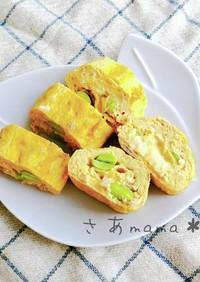 栄養満点♡ツナマヨチーズの卵焼き