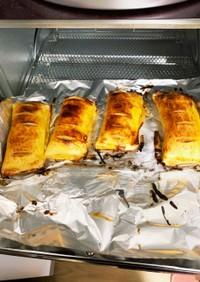 トースターで簡単食パンアップルパイ