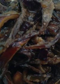 常備菜!なす皮のしん焼き(油味噌炒め)