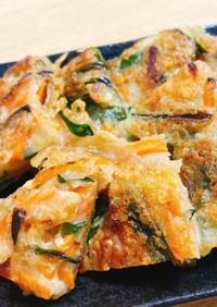 混ぜて焼くだけ簡単!ニラとチーズのチヂミ